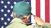 image of a Veteran saluting the flag
