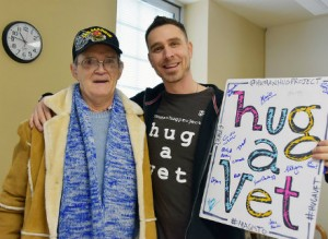 Human Hug Project, Hug A Vet helps Veterans and civilians with the healing power of hugs