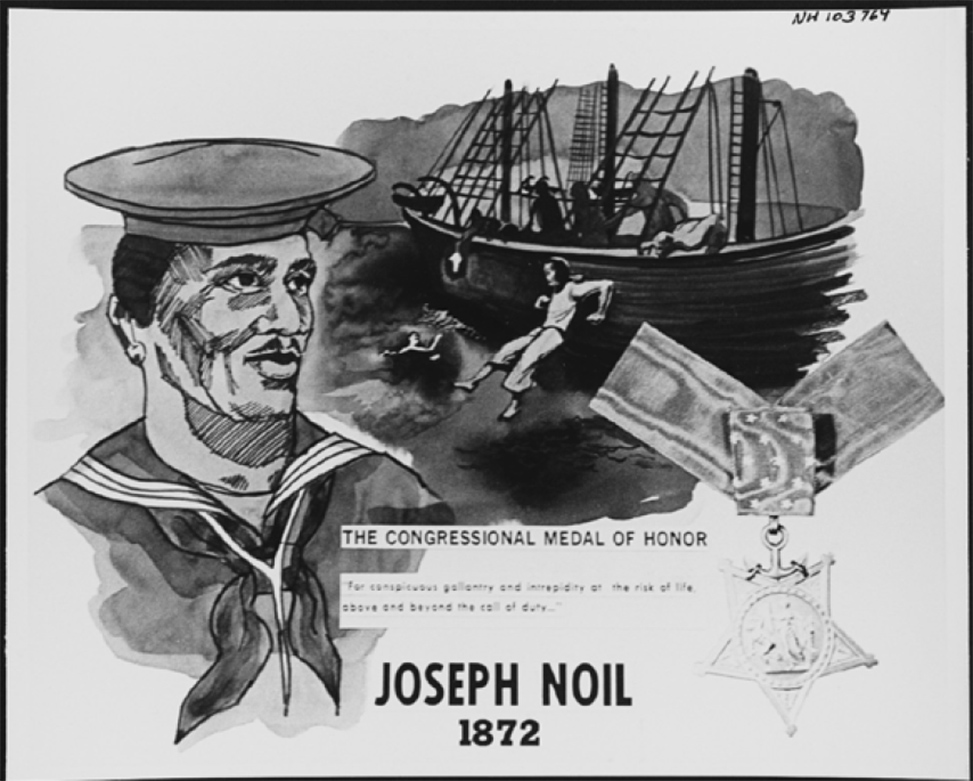 period drawing of Joseph Noil, Medal of Honor winner
