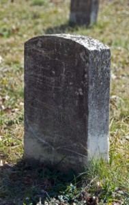 Image of Joseph B. Noil's miss-marked headstone that had gone undectected for nearly 129 years.