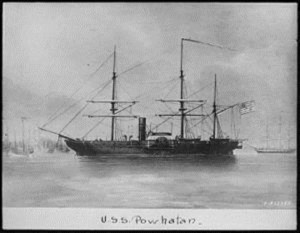 period image of the USS Powhatan