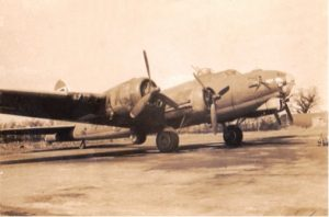 B-17G flown with the 95th BG(H) 334th SGDN: PATTY ANN (# 4231589), to drop supplies to the French Maquis in the Jura Mountains 1 August 1944 and other bombing missions.