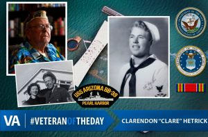Veteran of the day clarendon hetrick