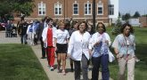 Image of VA employees wallking in the sixth annual nationwide VA2K Walk & Roll event