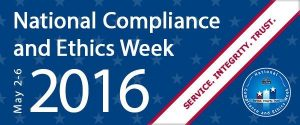 National Compliance and Ethics Week 2016