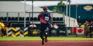 Veteran taking part in Invictus Games race