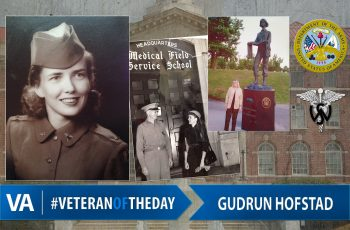 Veteran of the day Gudrun Hofstad