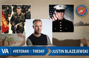 Veteran of the day Justin Blazejewski