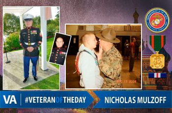 Veteran of the day Nicholas Mulzoff
