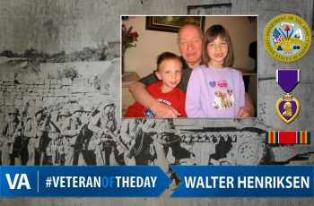 Veteran of the day Walter Henriksen