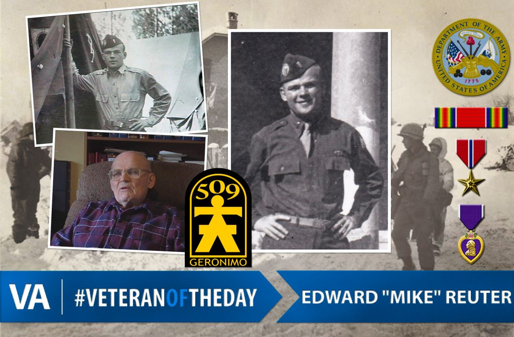 "#VeteranOfTheDay: Army Veteran Edward ""Mike"" Reuter"