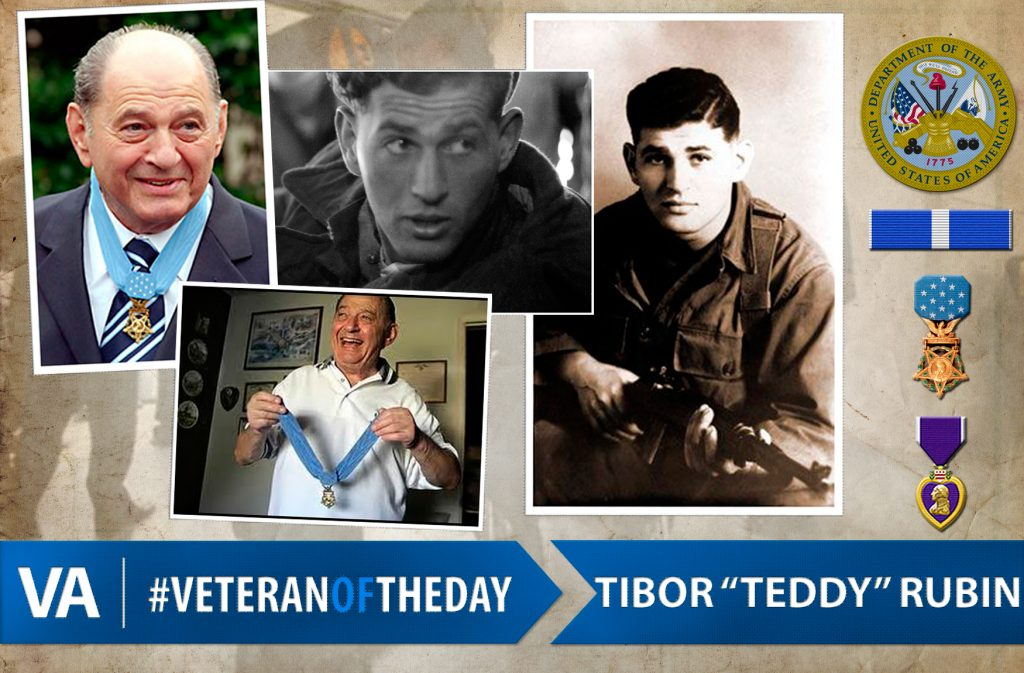 "#VeteranOfTheDay: Medal of Honor recipient and Army Veteran Tibor ""Teddy"" Rubin"