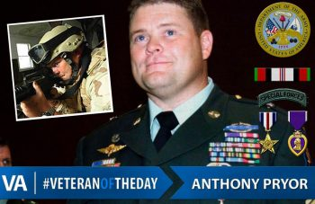 Veteran of the Day Anthony Pryor