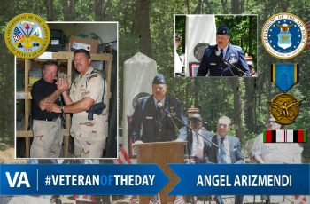 Veteran of the day Angel Arizmendi