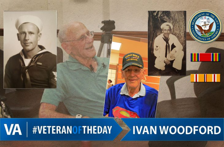 Veteran of the day Ivan Woodford.