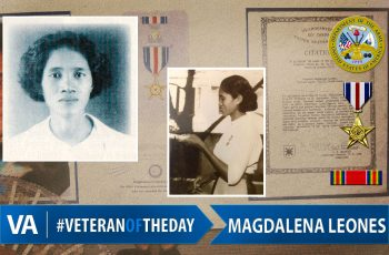 Veteran of the day Magdalena Leones