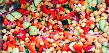 image of Mediterranean chickpea salad