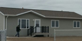 Image of A Veteran with the Oglala Sioux Tribe of Pine Ridge Reservation is among the first to move with his family into this permanent home, thanks to Tribal HUD-VASH.