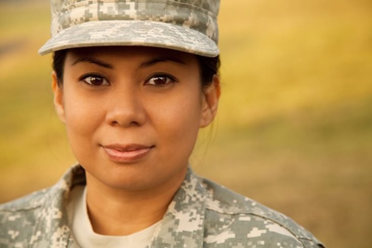 tock photography Woman in generic military uniform