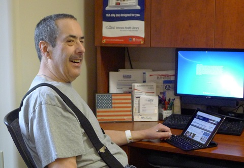 Navy Veteran embraces the Veterans Health Library