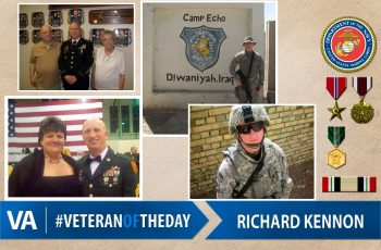 Veteran of the day Richard Kennon