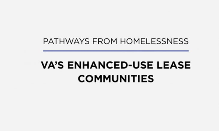 VA's Enhanced-Use Lease program provides once-homeless Veterans with a new lease on life