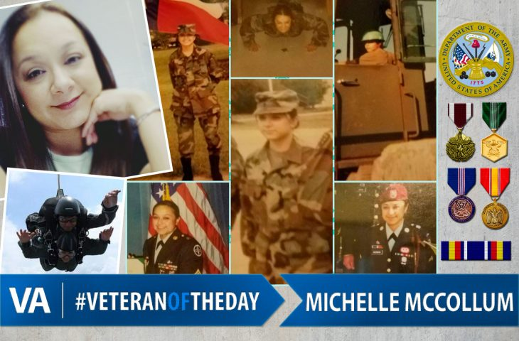 Veteran of the day Michelle McCollum