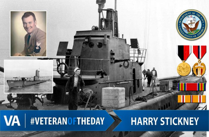 Veteran of the day Harry Stickney