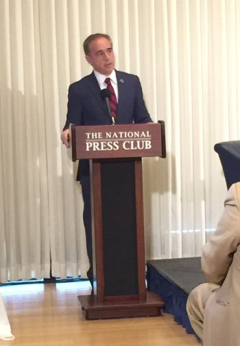 Dr. David Shulkin speaks at the National Press Club on Thursday, July 7.