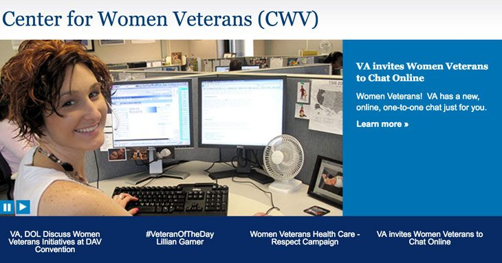 Center for Women Veterans Website