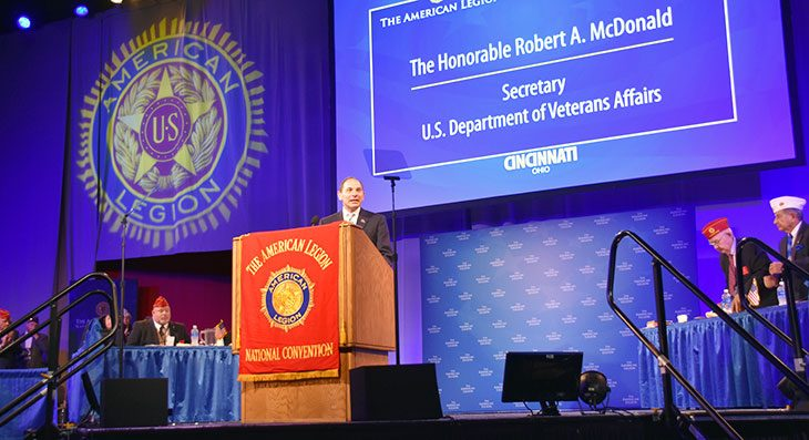 """It's your VA,"" McDonald tells American Legion convention attendees"