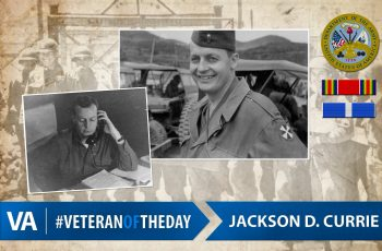 Veteran of the Day Jackson Currie