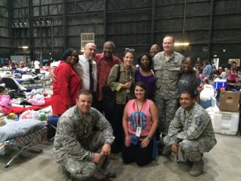 A group of VA employees including two activated for National Guard duty.
