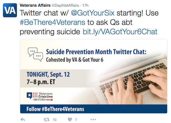 VA Got Your 6 Twitter Chat