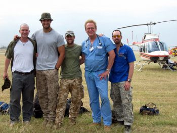 Clay Hunt with the original team in Haiti 2010