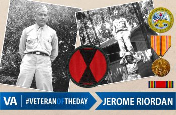 Jerome Riordan - Veteran of the Day