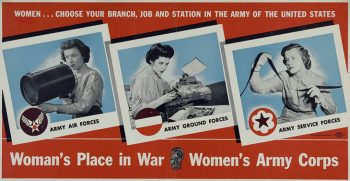 womens army corps WWII poster