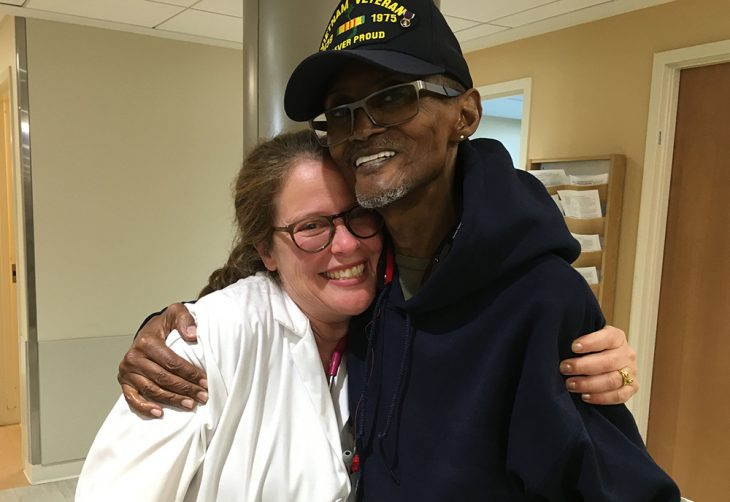 Vietnam Marine Corps Veteran Robert Hall and Primary Care Physician Dr. Sabrina Felson