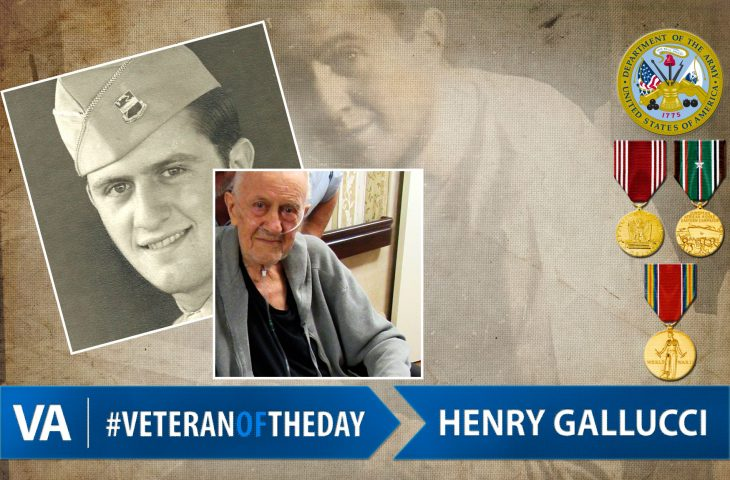 #VeteranOfTheDay Army Veteran Henry Dominick Gallucci