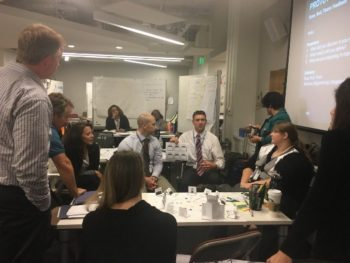 Image of the Innovators Network group brainstorming ideas