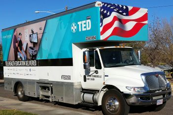 Telehealth Education Delivered (TED) vehicle.