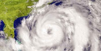 Image: A satellite image of a Hurricane