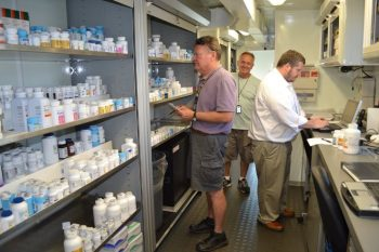 image of the inside of a mobile pharmacy