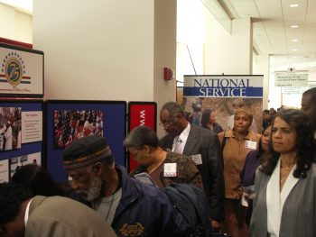 imge of people at a VA out reach event