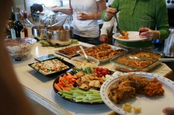 image of holiday buffet
