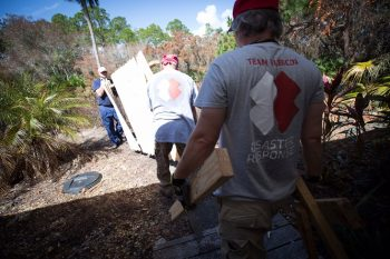 Team Rubicon members help rebuild
