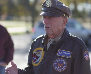 CPT Jerry Yellin, USAAF, at World War II Memorial speaking to teachers in NCA-ABMC teacher institute