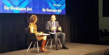 Secretary Bob McDonald speaks at the Next Mission event at the Washington Post