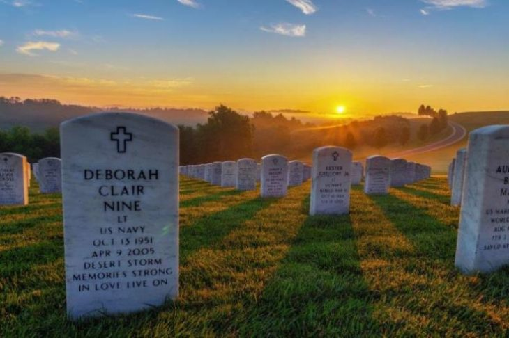 image of a national cemetery