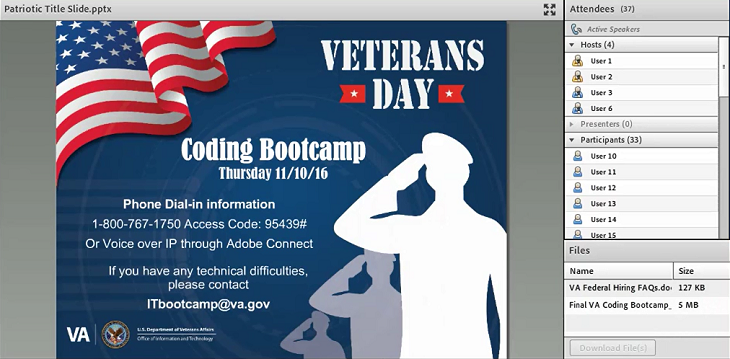 VA's Office of Information & Technology hosts IT Coding Boot Camp to introduce VA software development careers